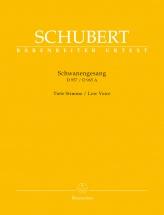 Schubert F. - Schwanengesang D 957 / Die Taubenpost D 965 A - Low Voice