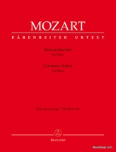 Mozart W.a. - Concert Arias For Bass - Vocal Score