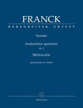 Franck Cesar - Sonate / Andantino Quietoso Op.6 / Melancolie - Violon and Piano