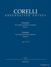 Corelli A. - Sonatas For Violin And Basso Continuo Op.5, I-vi Vol.1