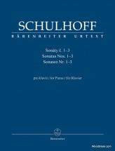 Schulhoff E. - Sonatas 1-3 - Piano