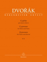 Dvorak A. - Cypresses B 11 - For Tenor and Piano
