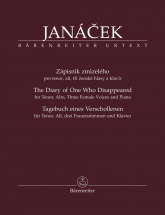 Janacek Leos - The Diary Of One Who Disappeared - Tenor, Alto, 3 Female Voices and Piano