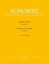 Schubert F. - Sonate G-dur Op.78 - D 894 - Piano