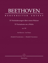 Beethoven L.v. - 33 Variations On A Waltz Op.120 - Piano