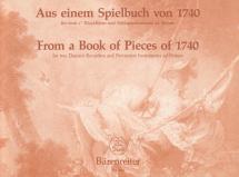 Aus Einem Spielbuch Von 1740 - Flute A Bec