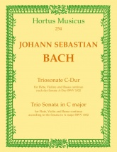 Bach J.s. - Trio Sonata For Flute, Violin & Basso Continuo In C Major Bwv 1032