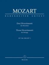 Mozart W. A. - Drei Divertimenti Für Streichquartett Oder Streichorchester - Conducteur De Poche