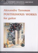 Tansman A. - Posthumous Works - Guitare