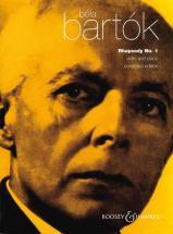 Bartok Bela - Rhapsodie N°1 - Violon Et Piano