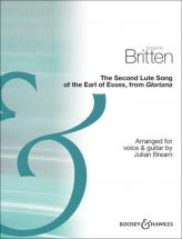Britten Benjamin - The Second Lute Song Of The Earl Of Essex - Voice And Guitar