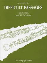 Difficult Passages  Vol. 3 - Oboe