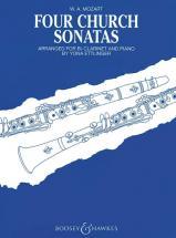 Mozart W.a. - Four Church Sonatas  Kv 67, 68, 244, 336 - Clarinet And Piano
