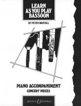 Learn As You Play Bassoon - Bassoon And Piano