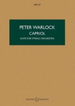 Warlock Peter - Capriol (suite For String Orchestra) - Score