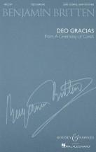 Britten B. - Deo Gracias Op. 28, No. 1voix