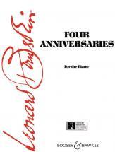 Bernstein Leonard - Four Anniversaries - Piano