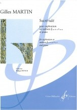 Martin Gilles - Sucre-sale - Euphonium Ou Saxhorn En Si B Ou En Ut Et Piano