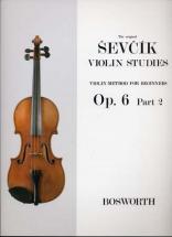 Sevcik - Etudes Op.6 Part 2 Pour Debutants - Violon