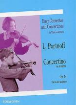 Portnoff - Concertino En La Mineur Op.14 - Violon, Piano