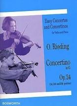 Rieding Oscar - Concertino Op.24 En Sol Majeur - Violon & Piano