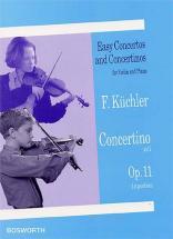 Küchler - Concertino Op.11 - Violon, Piano