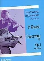 Essek - Concertino Op.4 En Sol Majeur - Violon Et Piano