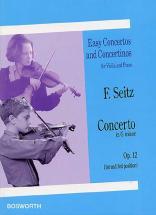 Seitz - Concerto En Sol Mineur Op.12 - Violon, Piano