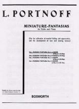 Portnoff - Russian Fantasia N°1 A Minor - Violin,piano