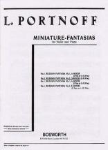 Portnoff - Fantaisie Russe N°2, Re Mineur - Violon / Piano