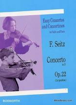 Seitz F. -  Concerto In D Op.22  - Violon Et Piano