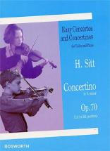 Sitt Hans - Concertino Op.70 - Violon, Piano