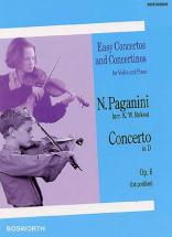 Paganini N. - Concerto In D Op.6 - Violon Et Piano