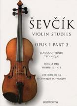 Sevcik - Etudes Op.1 Part 3 Technique - Violon