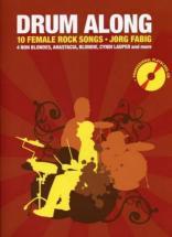 Drum Along 10 Female Rock Songs + Cd - Batterie
