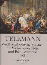 Telemann G. Ph. - Zwölf Methodische Sonaten, 1-3