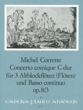 Corrette Michel - Concerto Comique In C Major Op.8/3 - Score And Parts