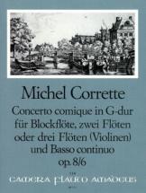 Corrette Michel - Concerto Comique In G Major Op.8/6 - Score And Parts