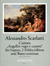 Partitions Chant - Scarlatti A. Cantata Augellin Vago E Canoro