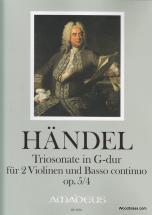 Händel Georg Friedrich - Triosonate Op. 5/4 G-dur - 2 Violons Et Bc