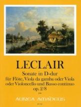 Leclair J.m. - Sonata In D Op.2/8 - Flûte, Viole De Gambe Et Bc
