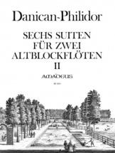 Danican-philidor Anne - Six Suites Pour Deux Flutes A Bec Alto Vol.2 - Suites 4-6