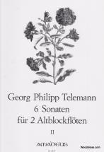Telemann G.p. - 6 Sonatas  Vol. 2 - 2 Treble Recorders