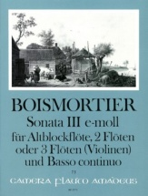 Boismortier - Sonate Iii Op.34 E-moll - Conducteur and Parties