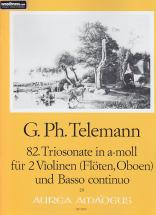 Telemann G.ph. - 82. Triosonate (sonata Polonaise) In A-moll - 2 Violons (flutes Ou Hautbois), Bc