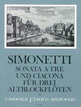 Simonetti Giovanni Paolo - Sonate A Tre E Ciacona Op.8