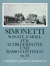 Simonetti Giovanni Paolo - Sonata F Minor - Flute A Bec Alto & Bc
