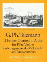 Telemann G.p. - Pariser Quartett In A-dur Twv 43:a3 - Score and Parts