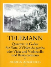 Telemann G.p. - Quartett In G-dur Twv 43:g12 - Conducteur & Parties