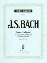 Bach J.s. - Concerto Re Mineur Bwv 1060 Violon, Hautbois, Piano